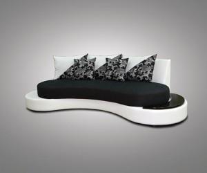 Canapea semirotundă